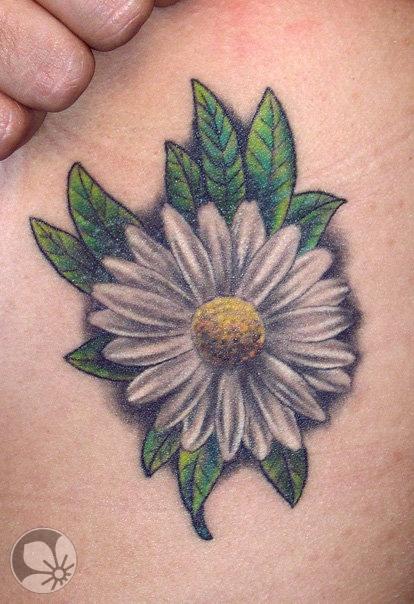 Tatuagem-Flor-Margarida