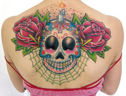 Tatuagem-feminina-de-caveira-mexicana