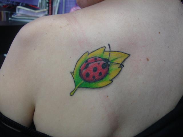 Tatuagens Femininas de joaninhas