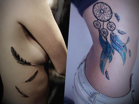 Tatuagem-pena-modelo