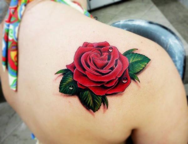 Tatuagem-rosa-vermelha