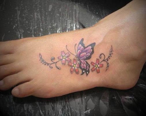 Tatuagens-Femininas-nos-Pés-Delicadas