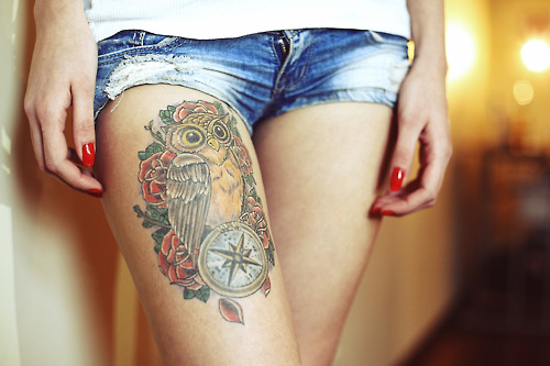 Tatuagens-criativas-de-corujas-variadas