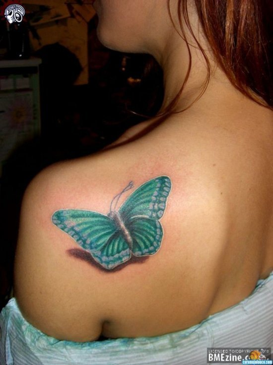 Tatuagens-de-borboletas-coloridas