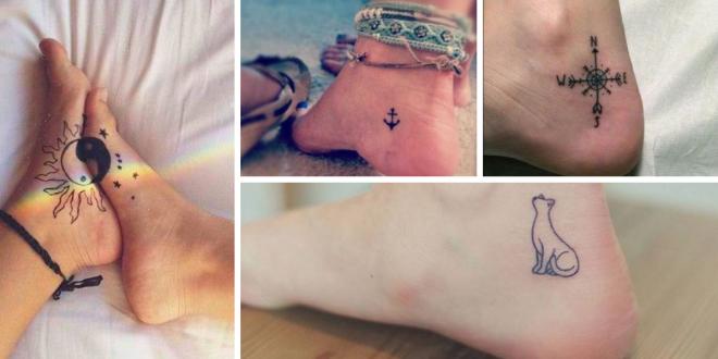 Tatuagens delicadas para os pés