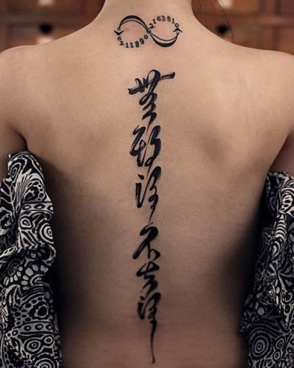 Tatuagens femininas escritas Japonês 2