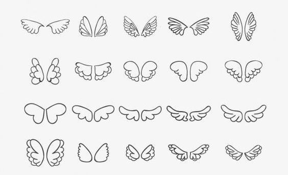 desenho tatuagem asas