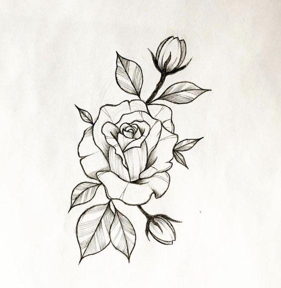desenho tatuagem flor