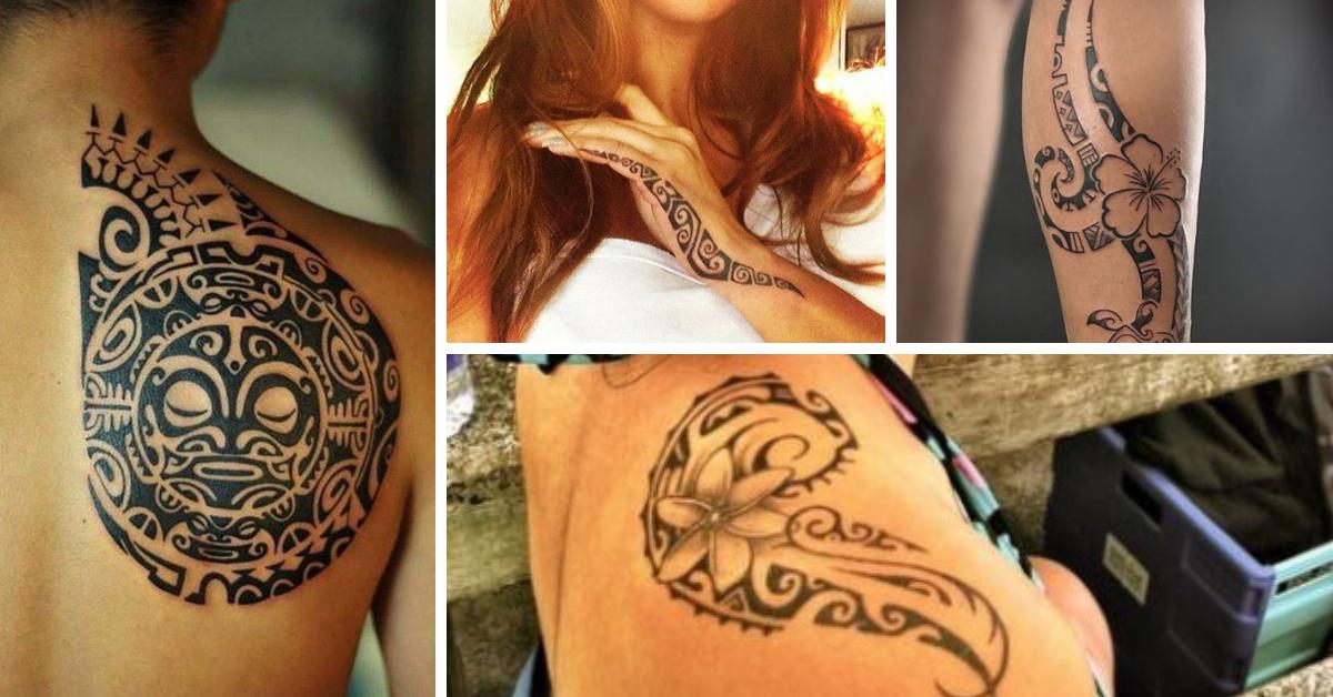 tataugem maori feminina