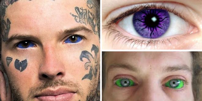tataugens nos olhos