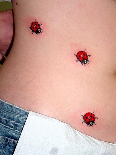 tatoo feminina joaninha