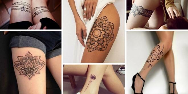 tattoo feminina perna