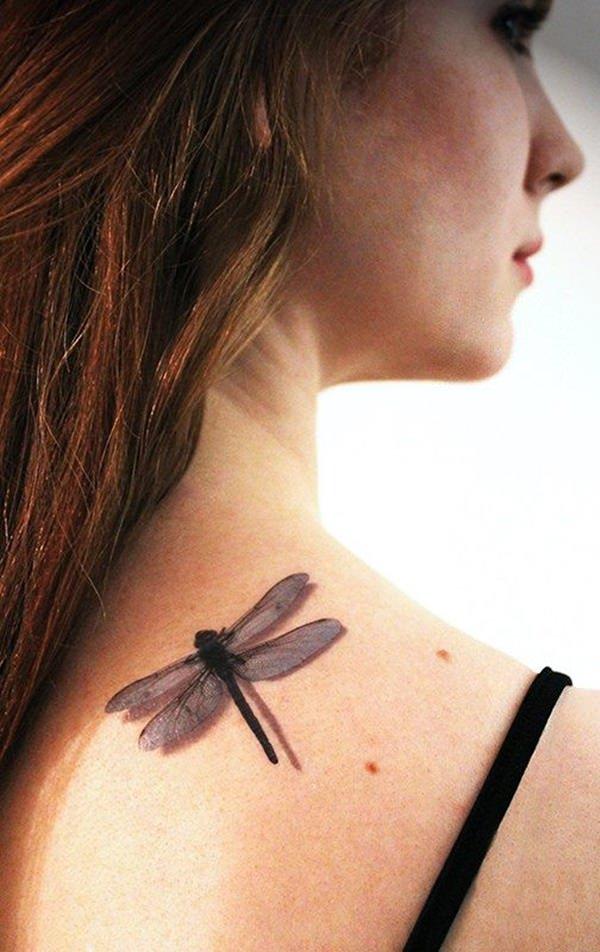 tatuagem 3d libelina