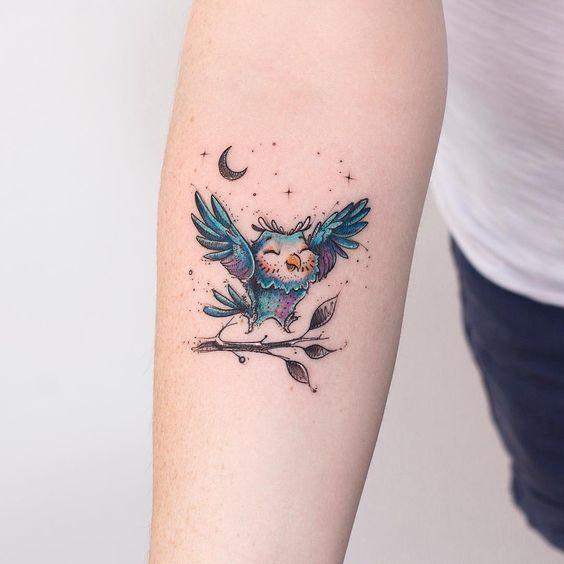 tatuagem coruja 4