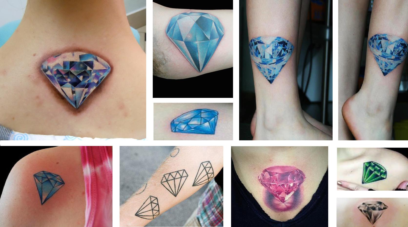 tatuagem de diamante