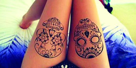 tatuagem feminina caveira 2