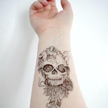 tatuagem feminina caveira 8