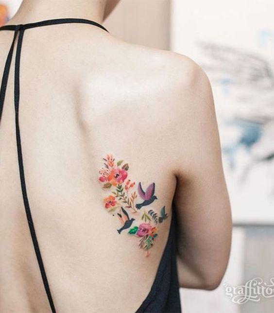 tatuagem feminina costas 6