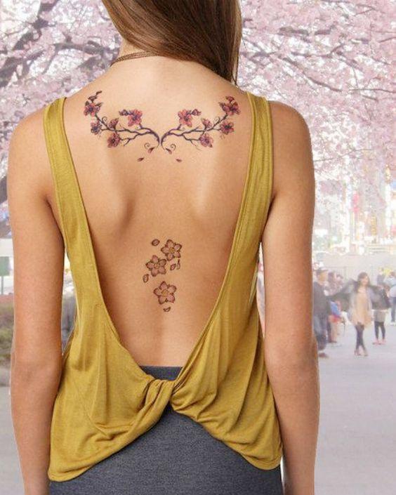 tatuagem feminina costas 7