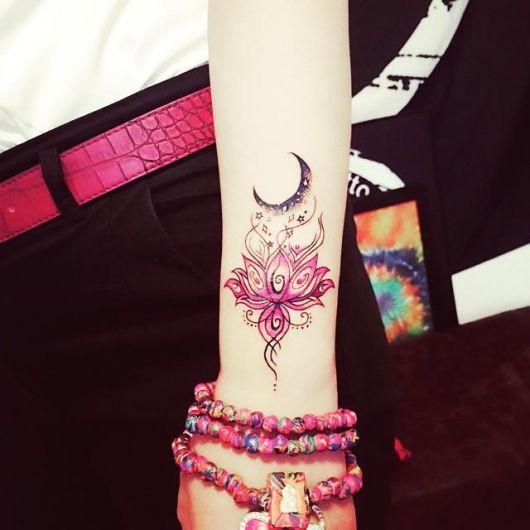 tatuagem mandala flor