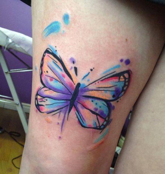 tatuagens borboletas 3d