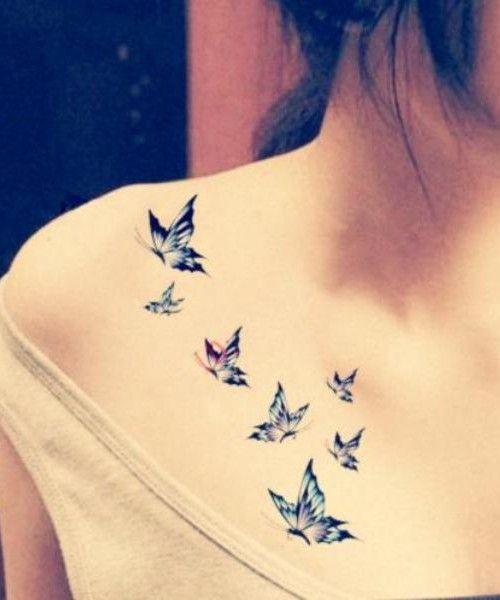 tatuagens borboletas azul