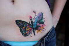 tatuagens borboletas barriga