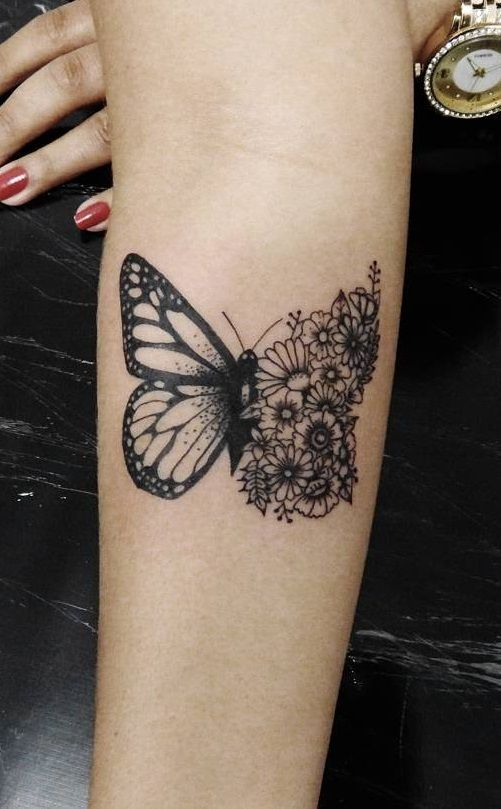 tatuagens borboletas pretas