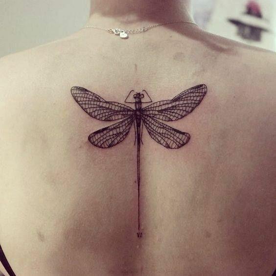 tatuagens costas animais libelina