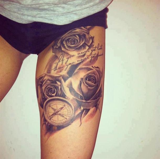 tatuagens-feminina-rosas-na-coxa