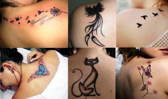 tatuagens femininas nas costas delicadas desenhos