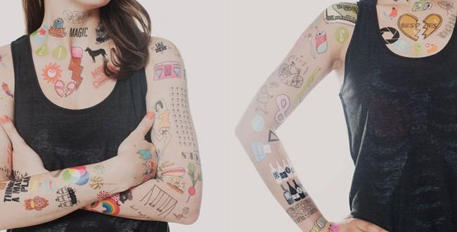 tatuagens temporarias viraram coisa de gente grande